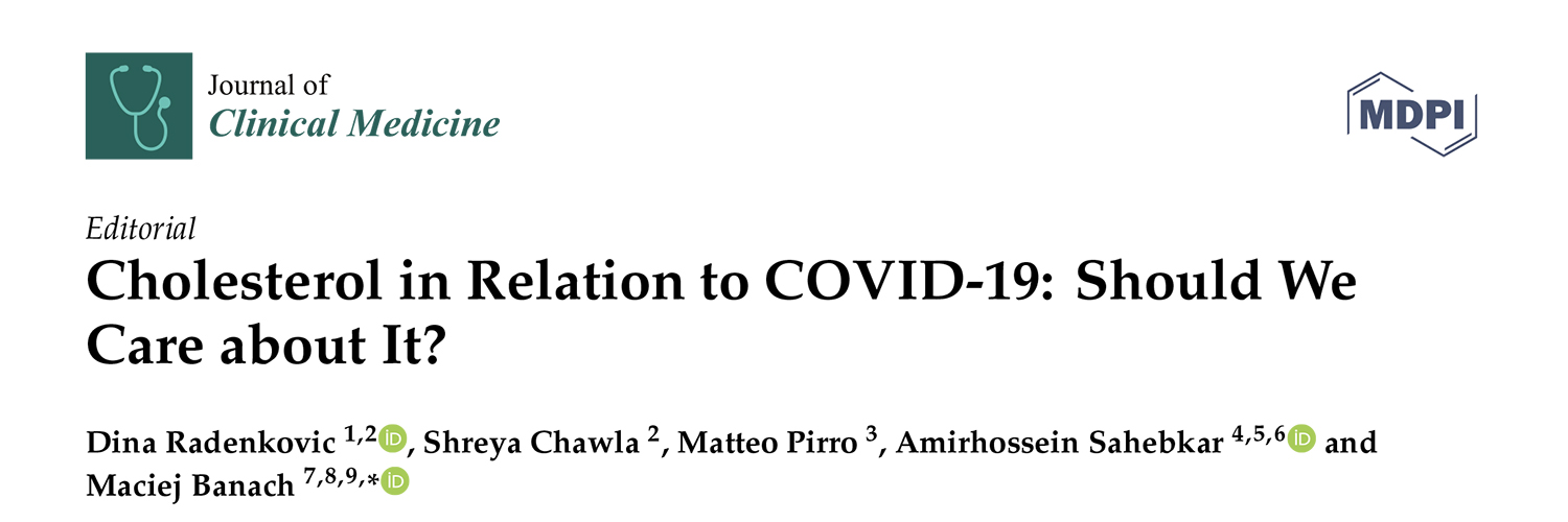 Cholesterol in Relation to COVID-19: Should We Care about It?