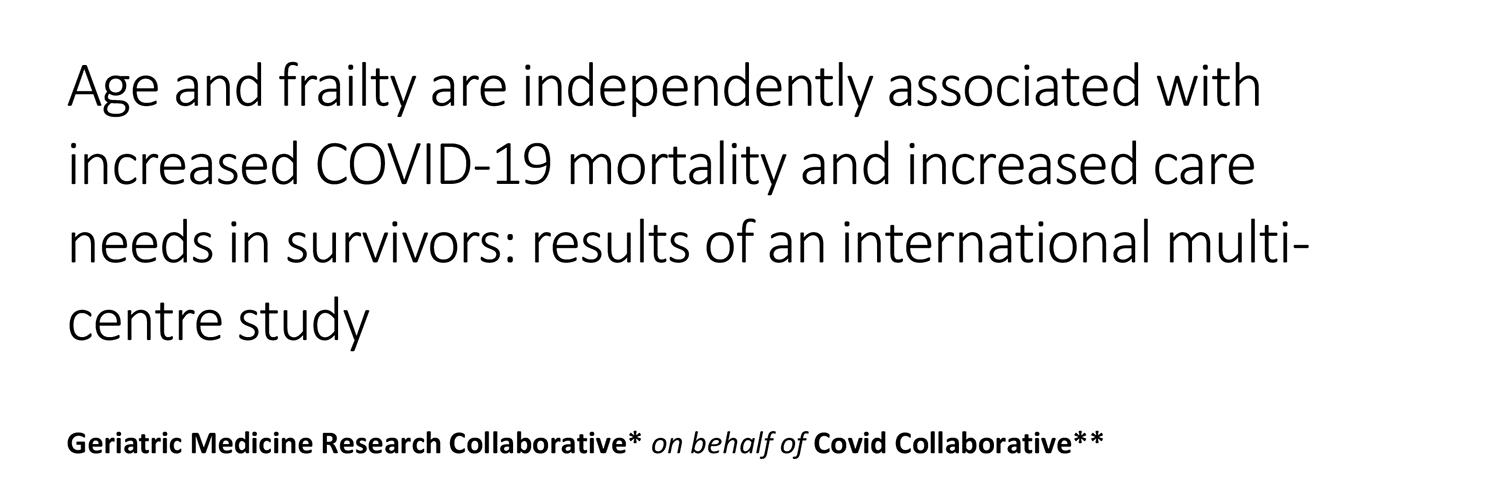 Age and frailty are independently associated with increased COVID-19 mortality and increased care needs in survivors: results of an international multicentre study