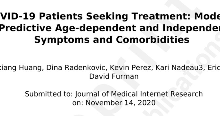 COVID-19 Patients Seeking Treatment: Modeling Predictive Age-dependent and Independent Symptoms and Comorbidities