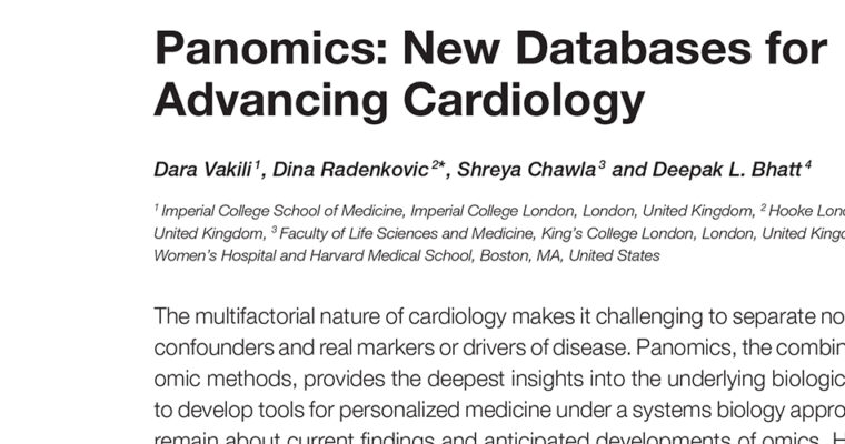 Panomics: New Databases for Advancing Cardiology